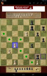 Chess Android We're nearing the end of the match. Here, an alternative skins was chosen for the board and for the pieces