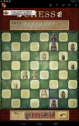 "Chess Android One of the possible skins for the pieces is based on the medieval ""Lewis chessmen"""