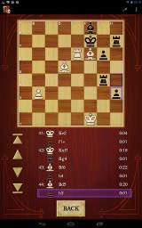 Chess Android You can review the game so far