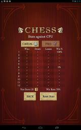 Chess Android A list of past games
