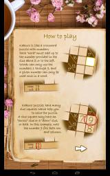 Real Kakuro Android In-game instructions on solving the Kakuro puzzle