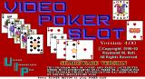 Video Poker Slot DOS The game's title screen