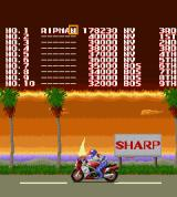 Rally Bike Sharp X68000 Top score, naturally that Sharp sign is exclusive to this version, in the arcade original it says Taito