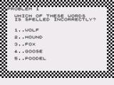 Spelling Bee ZX81 A problem
