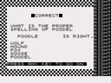 Spelling Bee ZX81 Getting it right