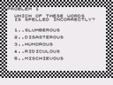 Spelling Bee ZX81 Some tougher words on the higher difficulty