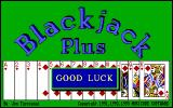 Blackjack Plus DOS The title screen.
