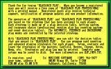 Blackjack Plus DOS The shareware game's exit screen again plugs the full game