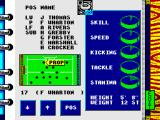 World Rugby ZX Spectrum Your squad