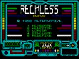 Reckless Rufus ZX Spectrum Title Screen