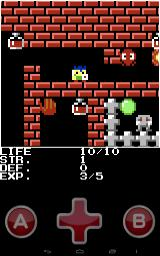 The legend of PicoHERO Android Investigating some tunnels. The monsters may look unfriendly but the fireball is the true threat. Like in many other games from this series, the A and B buttons don't do anything.