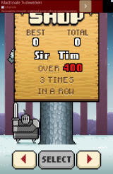 Timberman Android Certain conditions need to be met to unlock a character.
