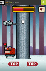 Timberman Android Chopping wood.