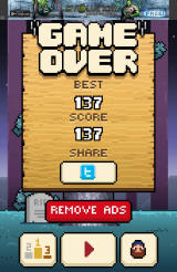 Timberman Android Game Over