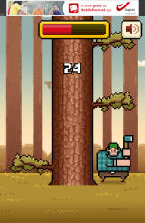 Timberman Android The green shirt character