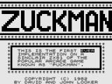 Zuckman ZX81 Title Screen
