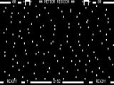 Meteor Mission TRS-80 Highest difficulty with lots of meteors