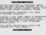 Mines of Saturn / Return to Earth ZX81 Mines of Saturn: Tilte Screen