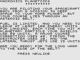 Planetoids ZX81 Title Screen