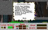 Mutant Earth DOS Sometimes helpful messages like this can be chanced upon in the levels.