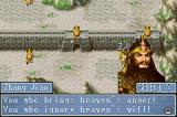 Dynasty Warriors Advance Game Boy Advance Zhang Jao