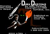Dark Designs I: Grelminar's Staff Apple II Title screen