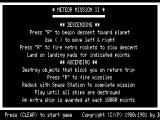 Meteor Mission 2 TRS-80 Instructions