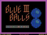 Blue Balls DOS The game's title screen
