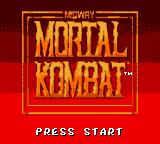 Mortal Kombat Game Gear Title