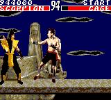 Mortal Kombat Game Gear Johnny Cage vs Scorpion