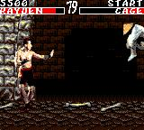 Mortal Kombat Game Gear Johnny Cage vs Rayden