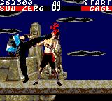 Mortal Kombat Game Gear with blood mode activated there is tons of blood