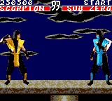 Mortal Kombat Game Gear Scorpion vs Sub Zero