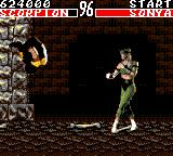Mortal Kombat Game Gear Scorpion vs Sonya