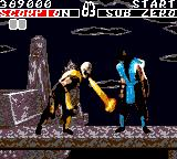 Mortal Kombat Game Gear Scorpion finishing move part 1