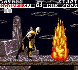 Mortal Kombat Game Gear Scorpion finishing move part 2