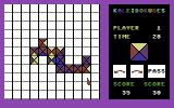 KaleidoKubes Commodore 64 Game in progress