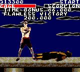 Mortal Kombat Game Gear Flawless victory