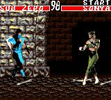 Mortal Kombat Game Gear Sub Zero vs Sonya