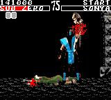 Mortal Kombat Game Gear Sub Zeros finishing move ripping off head and spine