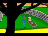 Hooky McPegleg: Pirate Postman! Windows Examining the grave
