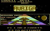 Auriga Commodore 64 Title Screen