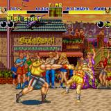 Fatal Fury Sharp X68000 Getting punched in Sound Beach, both fighters have shadows but it's constantly flickering so it's impossible to capture in static shots