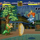 Fatal Fury Sharp X68000 Tung Fu Rue can become a giant muscular version of himself and fire a projectile
