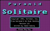 Pyramid Solitaire DOS Title screen (CGA)