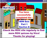 RON Quiz Part 1: Section A: RON Characters Windows 3.x Congratulations!
