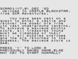 Castle Blackstar ZX Spectrum Your quest