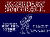 American Football ZX Spectrum Title Screen