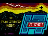 Valkyrie 17 ZX Spectrum Loading Screen