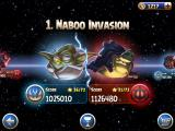 Angry Birds: Star Wars II iPad Pick your level as Master Yoda or Darth Sidious.